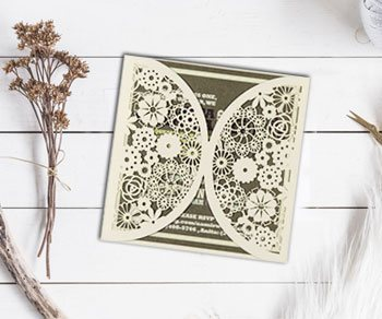 Laser Cut Wedding Invitations - IndianWeddingCards